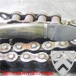 Kleines Messer aus Kettendamast