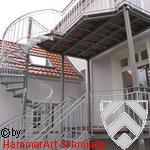 Balkon über zwei Etagen
