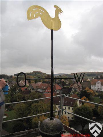 Restaurierung einer Turmbekrönung