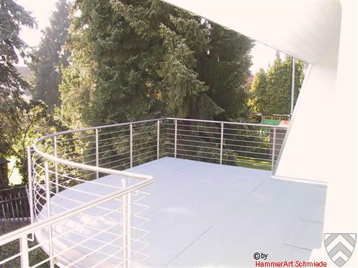 Terrassengeländer in Edelstahl